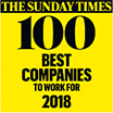 The Sunday Times: 100 Best Companies to Work For 2018